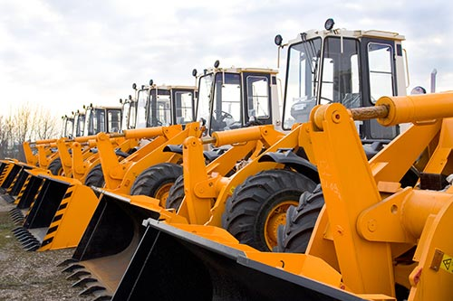 lot of heavy equipment